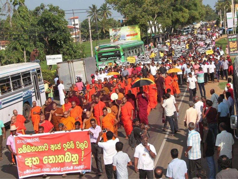 Image result for hambantota joint opposition protest