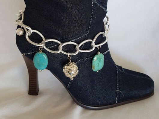 Turquoise and Chain Boot Bling – Arzinger Jewelry