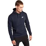 Men's Nike Club Fleece Pullover Long Sleeve Hoodie Navy