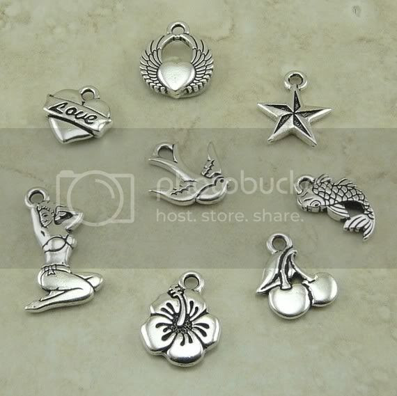 old school tattoo charms