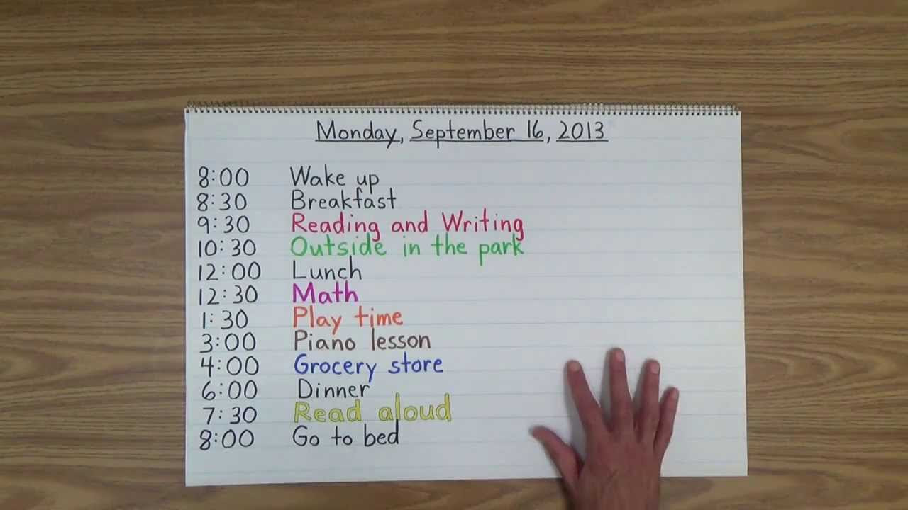 Daily Schedule For 4 Year Old At Home | Daily Planner