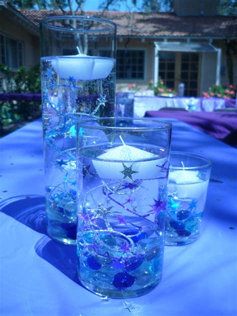 purple blue centerpiece stars coronation
