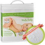 Vesta Baby Premium Bamboo Jacquard Crib Mattress Protector