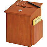 Buddy Products - Collection box - wood - medium oak