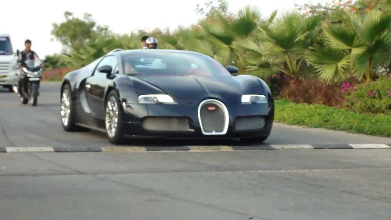 Bugatti Veyron in Hyderabad (India) Part 1 - YouTube