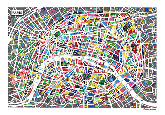 A map of Paris new ! - • Antoine Corbineau • Illustration, Art & Design •