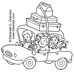 road trip usa coloring pages - photo#4