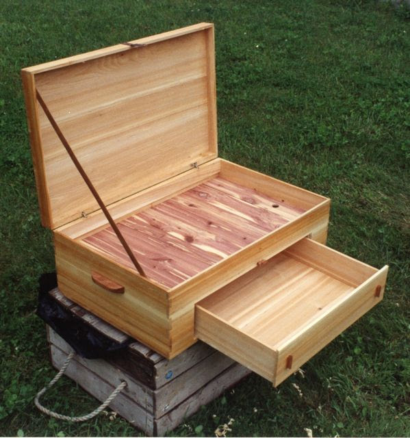 This cedar box had to be large enough to store an eagle's wing when