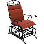 Blazing Needles Outdoor Glider Chair Hinged Seat & Back Cushion
