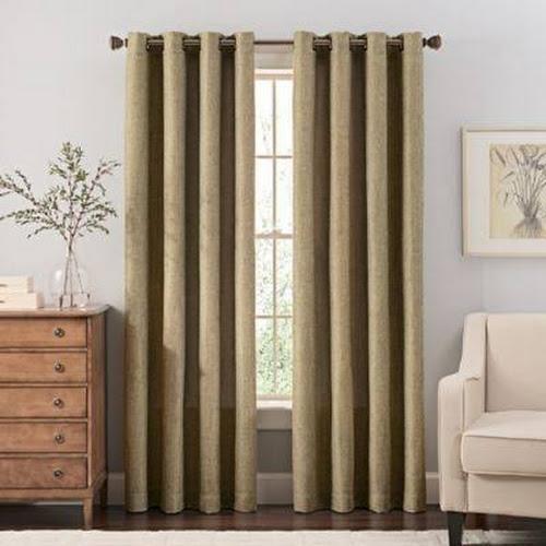 Zorlu USA Inc Reina 95 Grommet Top Window Curtain Panel In Green