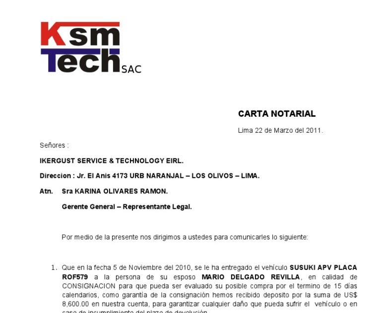 Carta Notarial Devolucion De Garantia About Quotes E