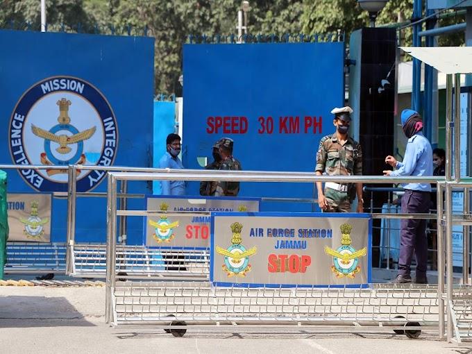Drones spotted near Jammu Air Force station