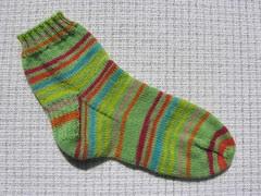 Green striped sock