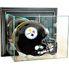 Perfect Cases Wall-Mounted Football Helmet Display Case, Black Finish