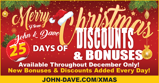 25 Days of Discounts and Bonuses - The ULTIMATE Christmas Gift!