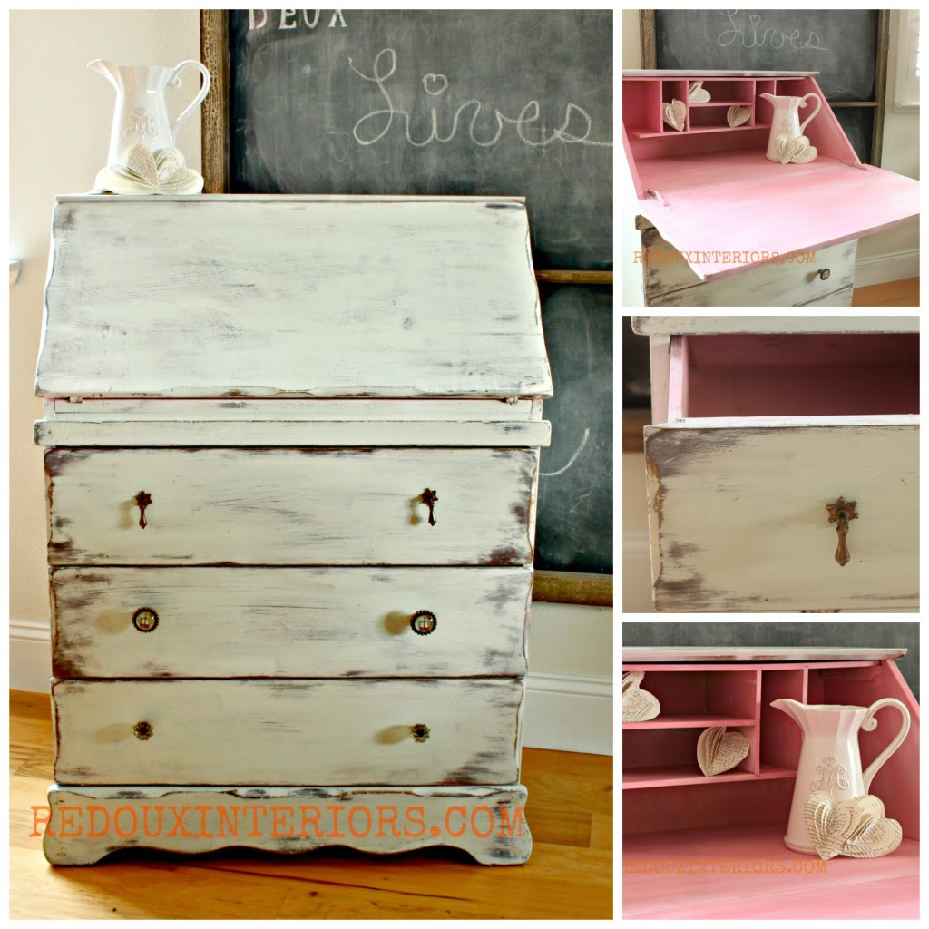 Secretary in Nantucket Spray collage redouxinteriors