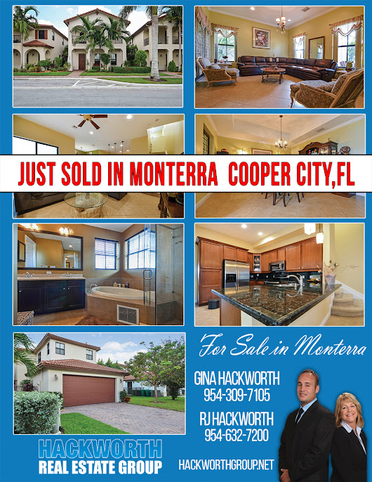 Just Sold in Monterra in Cooper City,Florida