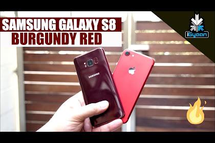 Samsung Galaxy S8 Burgundy Red Wallpaper Download