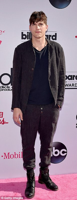 Keeping it cool: Wiz Khalifa, Ashton Kutcher and Nick Jonas opted for semi-casual looks