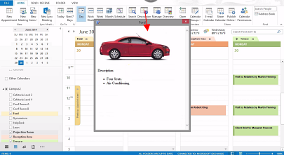 Calendar Browser resource description in Outlook