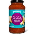 Organic Roasted Garlic Pasta Sauce 24oz - Simply Balanced