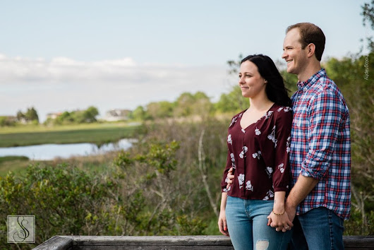 Jen & Mike's Engagement Portraits at Wells National Estuarine Research Reserve