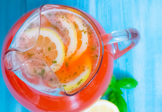 Healthy and Organic Strawberry Basil Lemonade On a Budget - Deliciously Plated