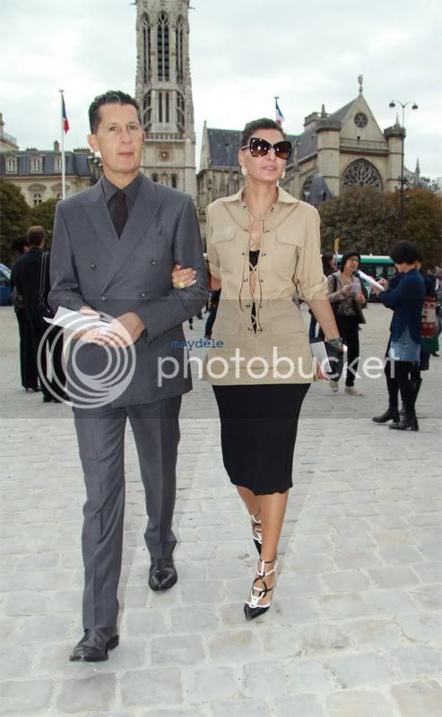 Stefano Tonchi with Giovanna Battaglia