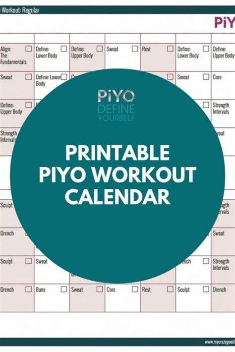 piyo printables archives  crazy good life