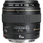 Canon Telephoto Lens for Canon EF - 85mm - F/1.8 - Black