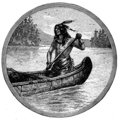 INDIAN IN CANOE