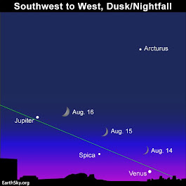 Moon, Venus, Jupiter August 14 to 16 | EarthSky.org