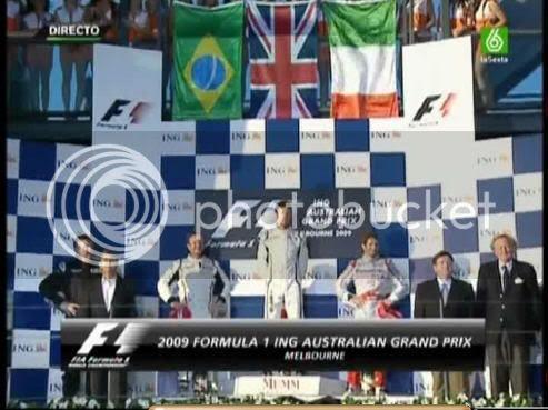 Podium GP Australia 2009