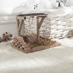 Pozo de madera de 16x14x13cm