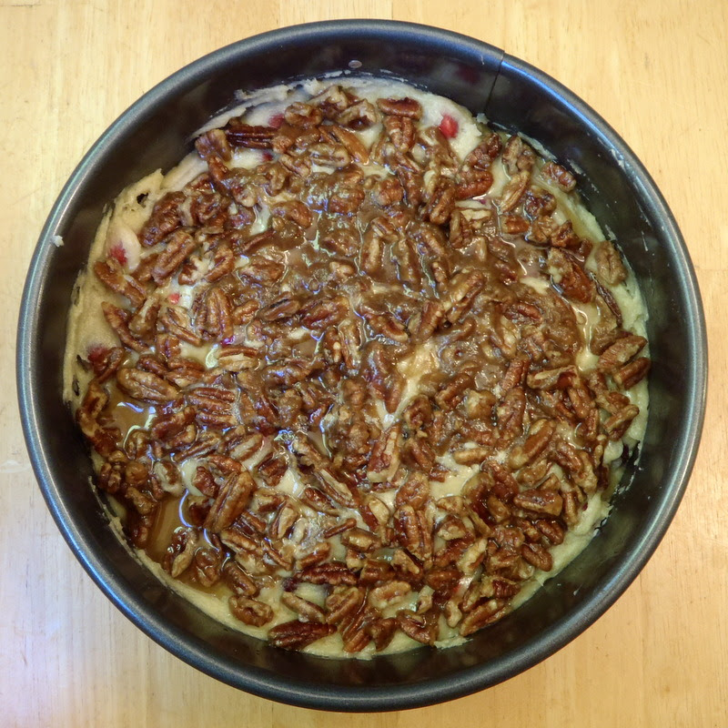 Pecan Topped Cranberry Cake
