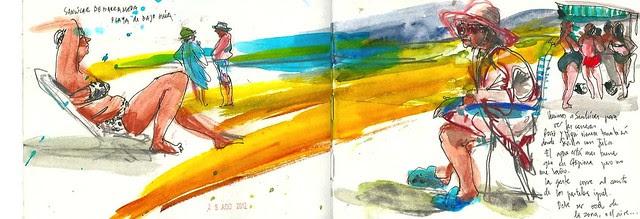 Playa de Sanlúcar. Bajo guía. Verano 2012