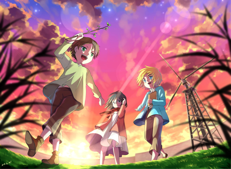 Hd Anime Girls Shingeki Kyojin Mikasa Ackerman Eren Jaeger Armin Arlert Hd Desktop Wallpaper Download Free 142915