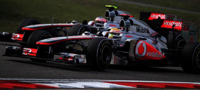 Hamilton y Button en Turquia 2011