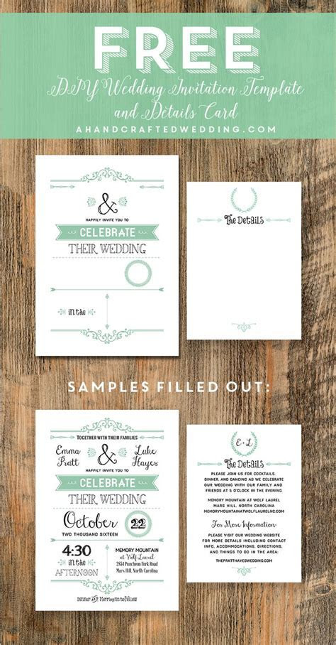 FREE Wedding Invitation Template via ahandcraftedwedding