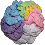 threddies Cotton Scrunchies (Pastel Assortment), 10 Piece Pack