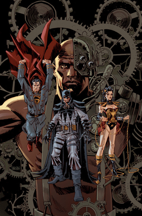 Steampunk Justice League Variant Cover Created by Dan Panosian