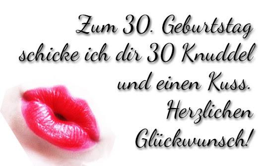Geburtstagsglückwünsche 30 Geburtstag