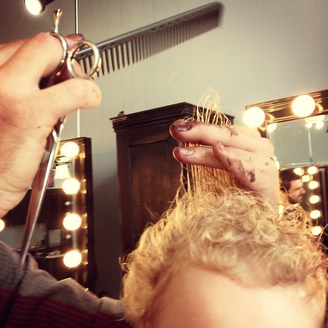 Lewis' first hair cut