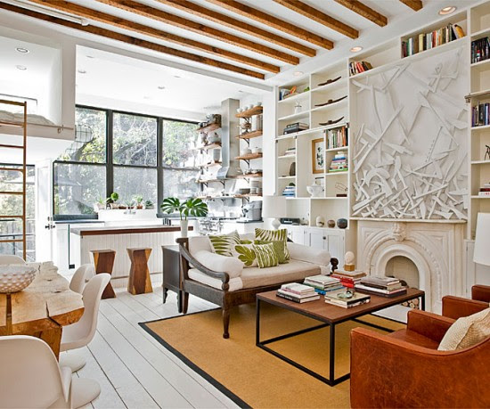 modern-american-vintage-living-room-550×459 | house of pollocks