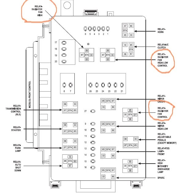 33 06 Chrysler 300 Fuse Box Diagram
