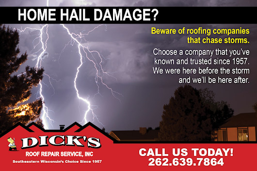 Hail Damage? Hire A Professional! - Dick's Roofing