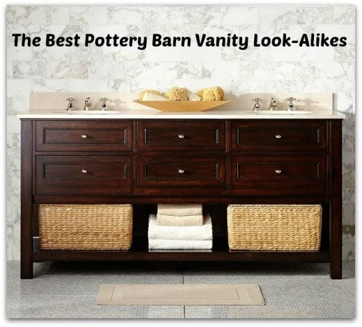Pottery Barn Look Alike Single Sink Bathroom Vanities