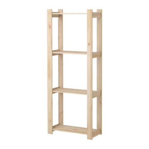 ALBERT Hylla IKEA Obehandlat trä; kan oljas, vaxas eller laseras för en personlig prägel och en slitstarkare yta.