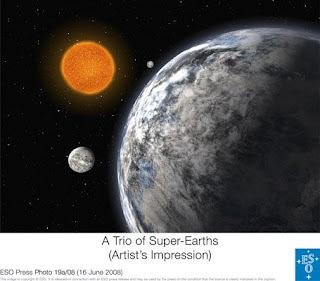 Ilustración Trío de Super-Tierras