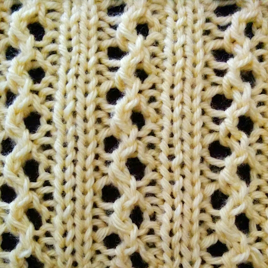 Ribs and Eyelets Stitch - Purl Avenue